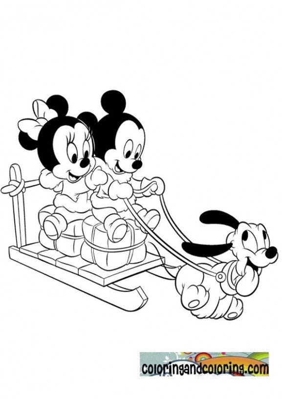 Mickey Mouse Christmas Coloring Pages | babies minniey mickey mouse ...
