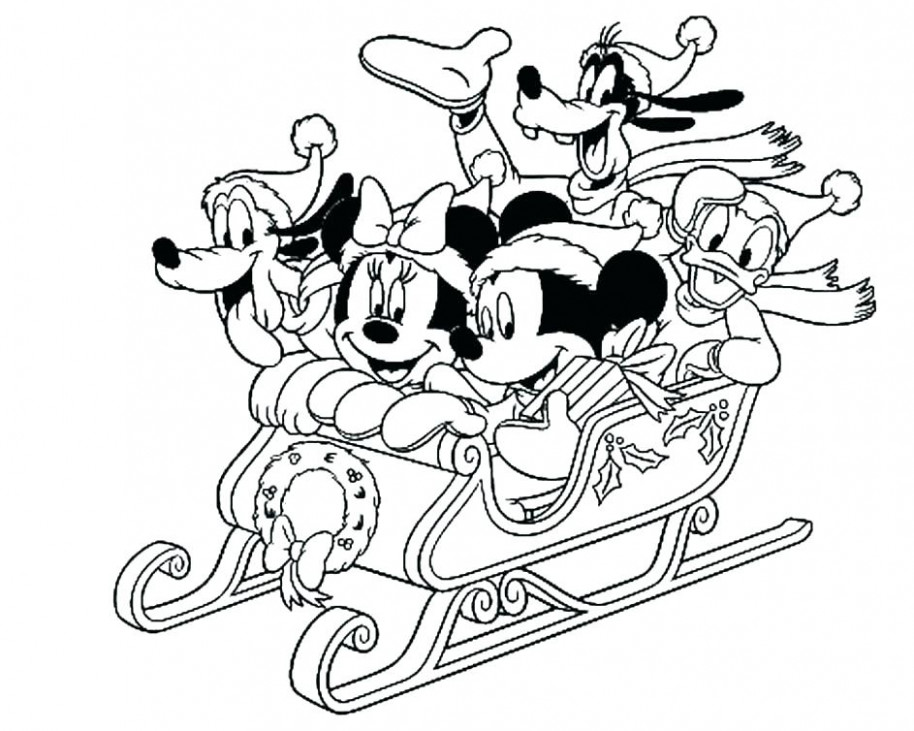 Mickey Mouse Christmas Coloring Pages – Best Coloring Pages For Kids – Christmas Coloring Mickey Mouse