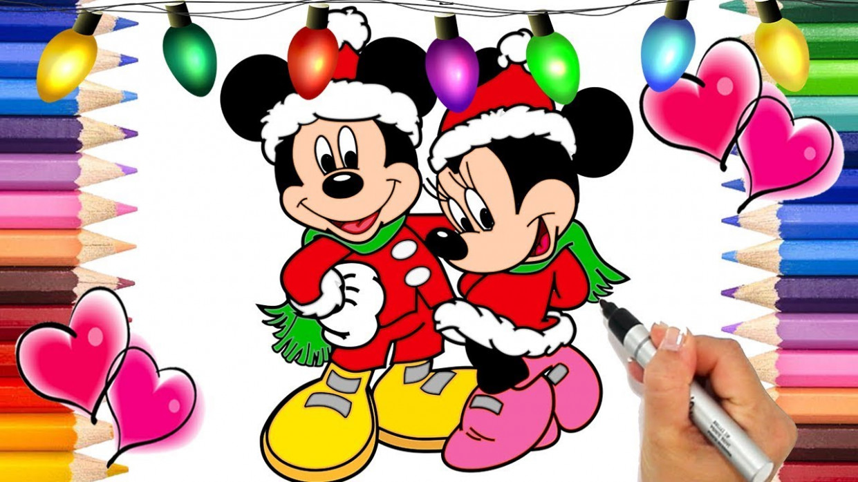 Mickey Mouse Christmas Coloring Pages | Mickey and The Roadster ...