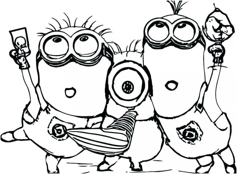 Minion Christmas Coloring Pages Minion Printable Coloring Pages ...