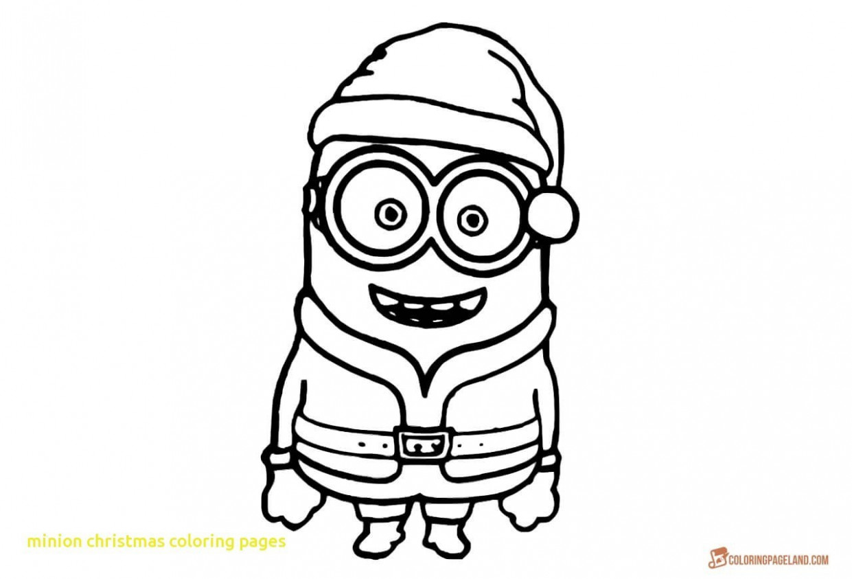 Minion Coloring Pages Christmas Minion Coloring Pages Minion ...