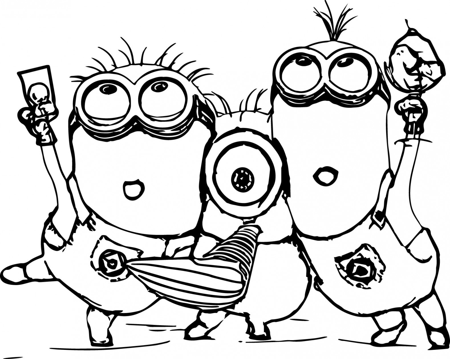 Minion Coloring Pages - Dr. Odd