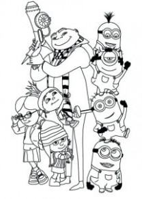 Minion Coloring Pages Printable For Kids – Free Coloring Sheets – Christmas Minion Coloring Pages