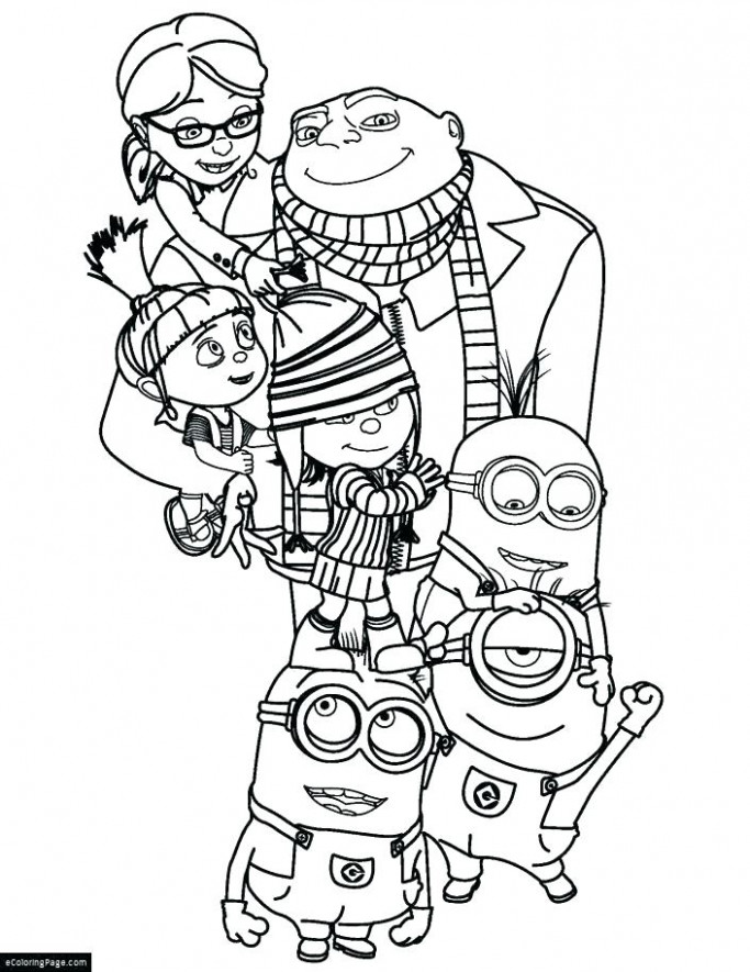 Minion Printable Coloring Pages Minions Printable Coloring Pages ...