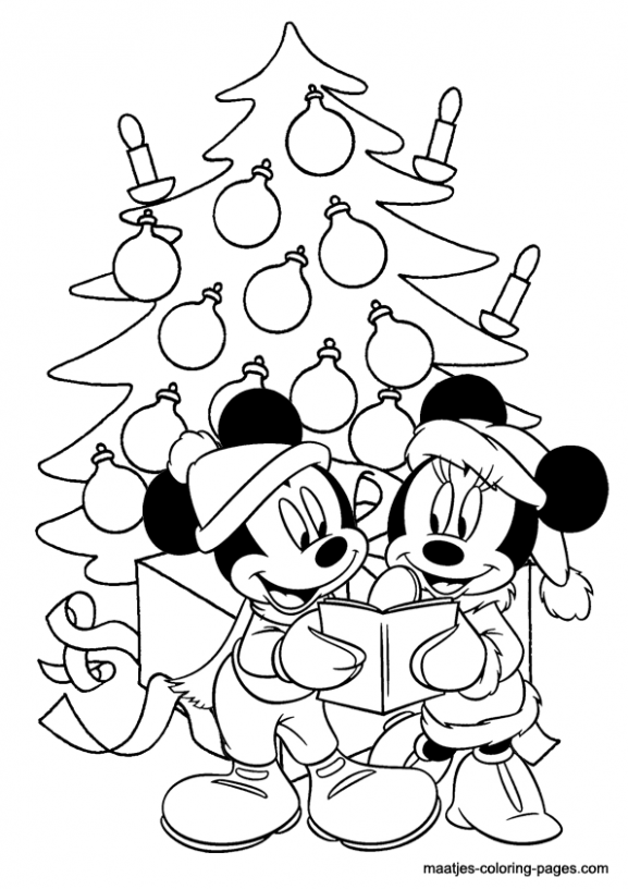 Minnie Mouse Christmas coloring pages – Christmas Coloring Sheets That You Can Print