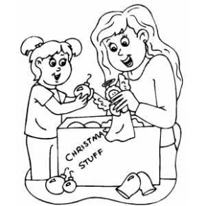 Mom And Daughter Christmas Ornaments Coloring Page – Christmas Coloring Pages For Mom