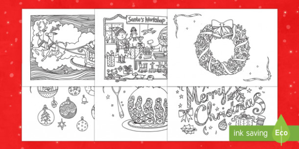 More Christmas Mindfulness Colouring – Christmas Coloring Pages Twinkl