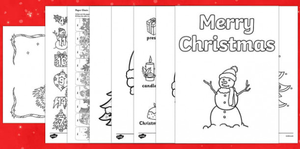 More Christmas Mindfulness Colouring – Christmas Colouring Pages Tes