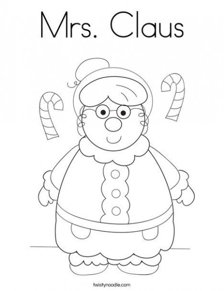 Mrs Claus Coloring Page - Twisty Noodle | Christmas | Coloring pages ...