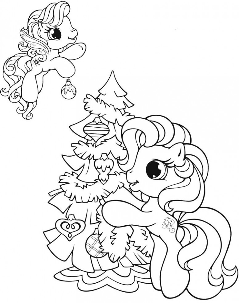 My Little Pony Christmas Coloring Page | Coloring pages | Christmas ...
