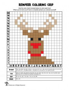 mystery coloring pictures mystery picture grid coloring worksheets ...