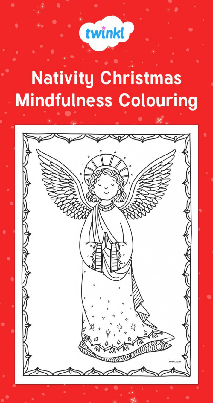 Nativity Christmas Mindfulness Colouring. De-stress this Christmas ..