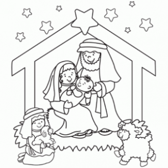 Nativity Coloring Page – Free Christmas Recipes, Coloring Pages for ..