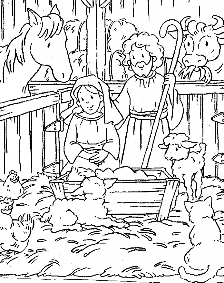 Nativity Coloring Pages Free Printable Download | Coloring Pages Hub ..