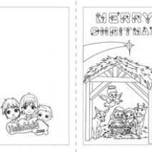 Nativity scene coloring pages – Hellokids