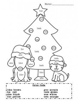 NEW 20 SIGHT WORD CHRISTMAS COLORING PAGES | sight word worksheet – Christmas Coloring Words
