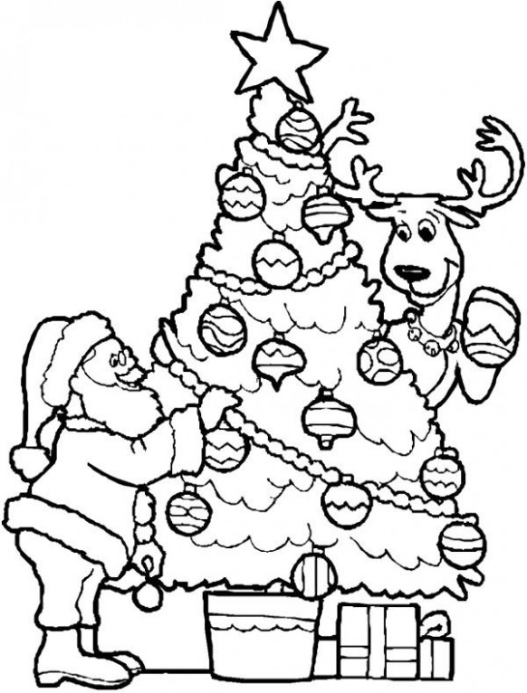 Nice Inspiration Ideas Santa Coloring Pages Father Christmas Pages ...