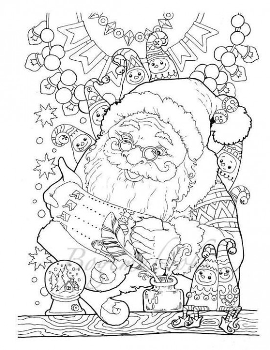 Nice Little Town Christmas (Adult Coloring Book, Printable, Coloring ..