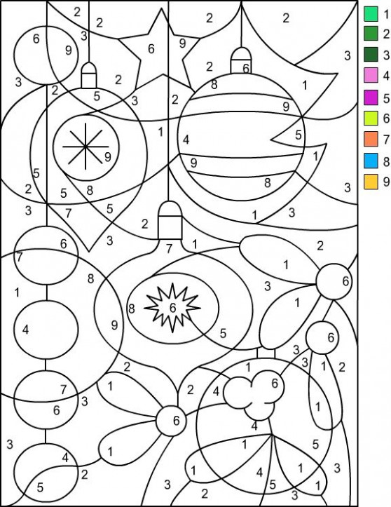 Nicole's Free Coloring Pages: CHRISTMAS * Color by Number | Share ...