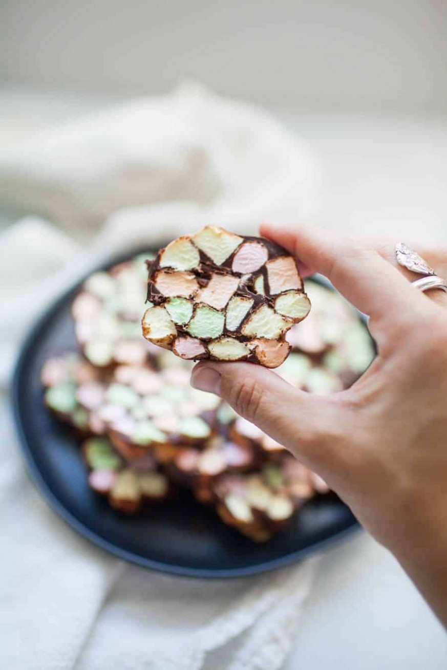 No Bake Stained Glass Window Cookie • A Joyfully Mad Kitchen – Christmas Colored Marshmallows