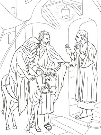 No Room at the Inn for Mary and Joseph coloring page | Free ..