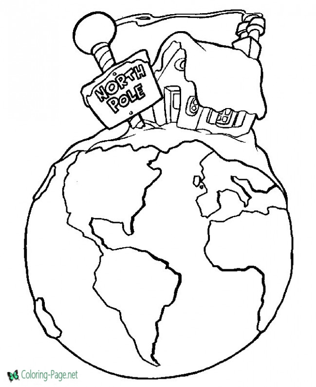North Pole Christmas Coloring Pages – Christmas Coloring Pages North Pole