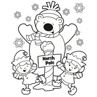 North Pole Coloring Page – Free Christmas Recipes, Coloring Pages ..