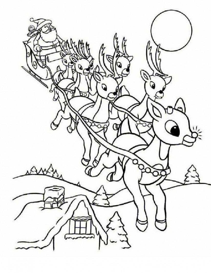 Online Rudolph and other Reindeer Printables and Coloring Pages ..