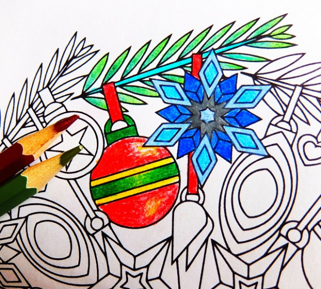 Ornaments - Christmas ornament mandala coloring page PDF