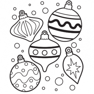 Ornaments Coloring Page - Free Christmas Recipes, Coloring Pages for ...