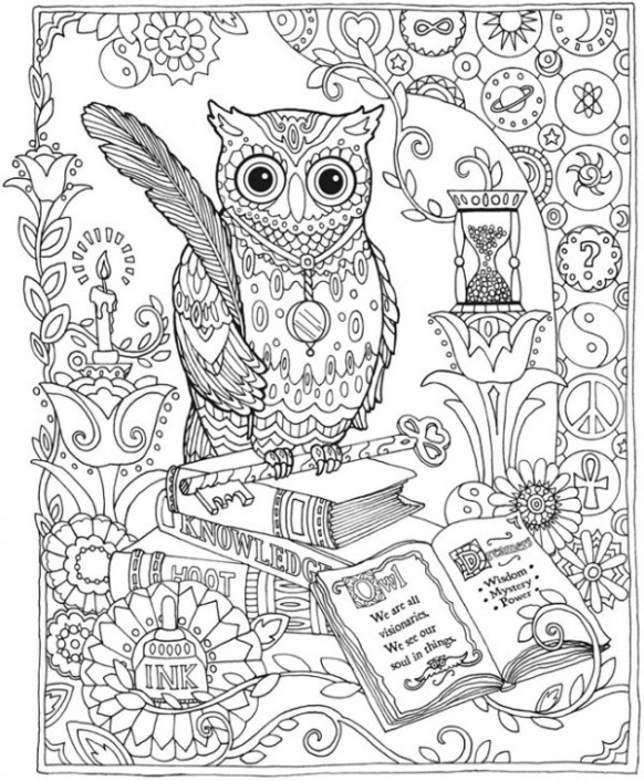Owl colouring in owl coloring pages for adults free detailed owl ..