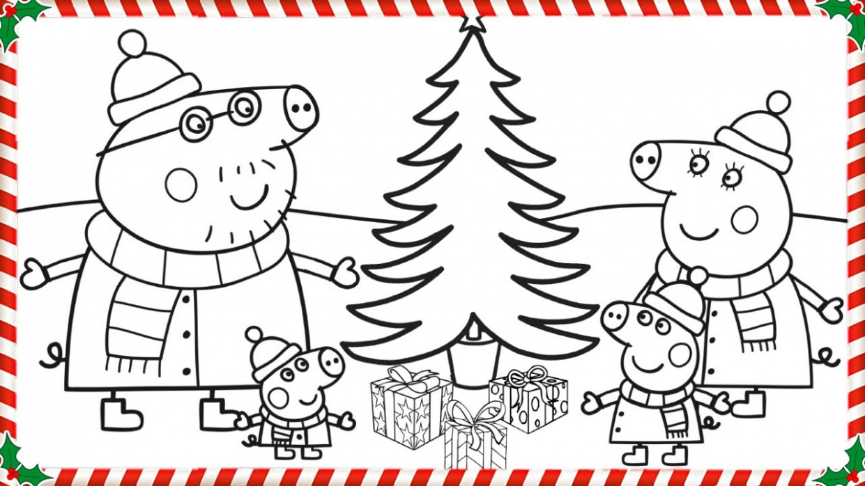 Peppa Pig Christmas Coloring Book Pages Kids Fun Art Coloring Videos ..
