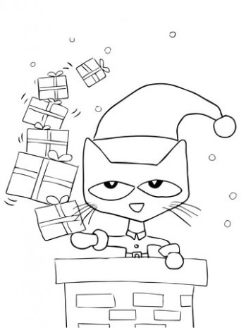 Pete the Cat Saves Christmas coloring page | Free Printable Coloring ..