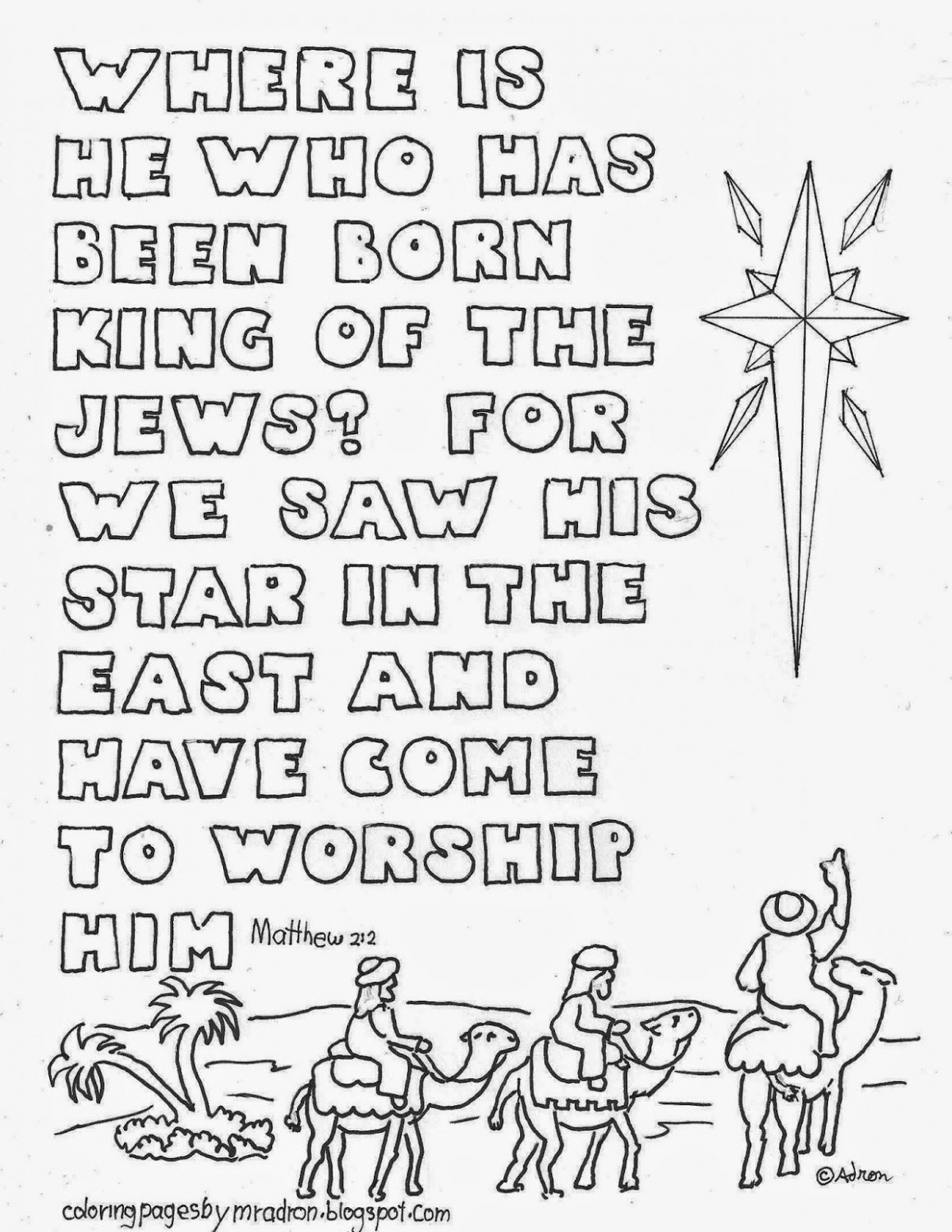 Pin by Adron Dozat on Coloring Pages for Kid | Christmas bible ...