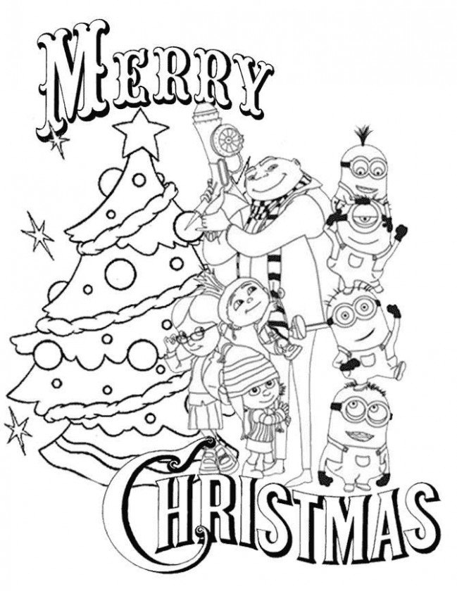 Pin by julia on Colorings | Christmas coloring pages, Minion ...