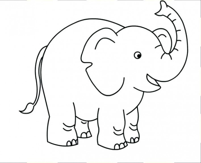 Preschool Elephant Coloring Page For Kids Free Animal Pages ..