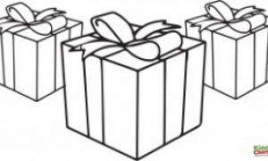 Presents - Free Christmas Coloring Pages