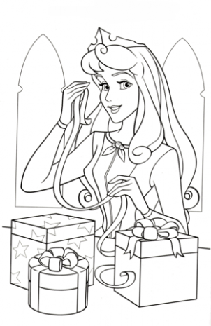 Princess Aurora Loves Christmas coloring page | Free Printable ..