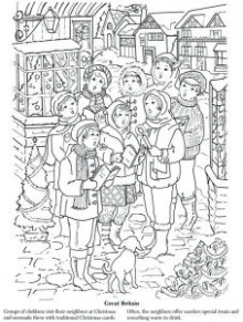 Princess Christmas Coloring Pages Free Beautiful Victorian Christmas ...