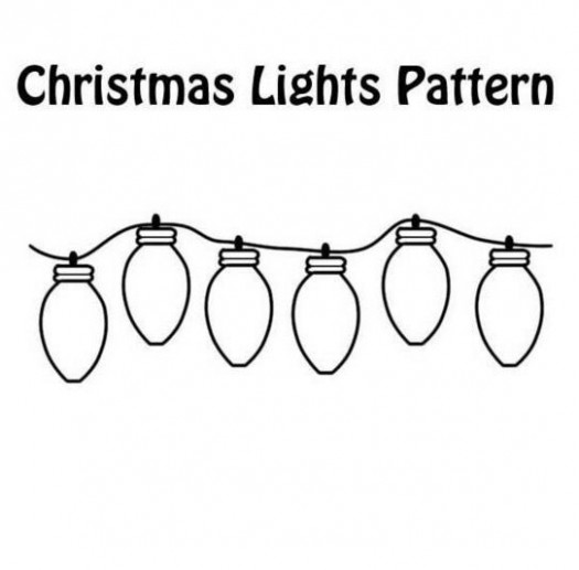 Print coloring page and book, Christmas Lights Coloring Page for ..