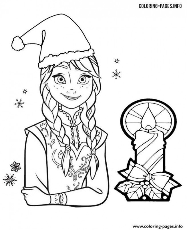 Print Princess Anna Frozen christmas coloring pages | Frozen ..