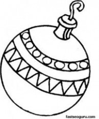 Printable A bauble decorating a Christmas tree coloring page ..