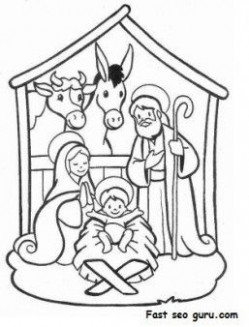 Printable Christmas Jesus in the manger coloring pages – Printable ..