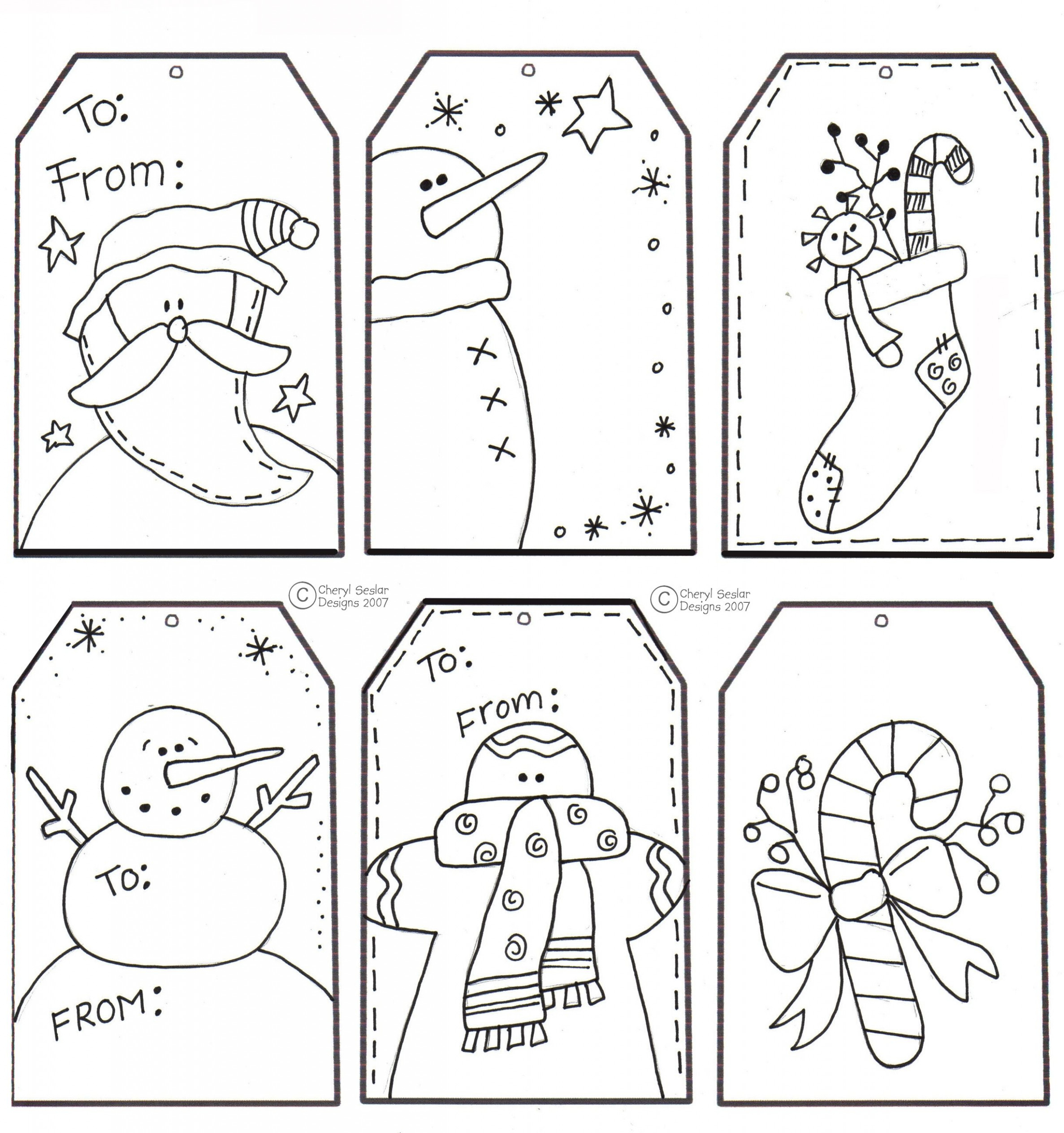Printable Christmas Tags for Coloring | christmas | Etiquetas ..