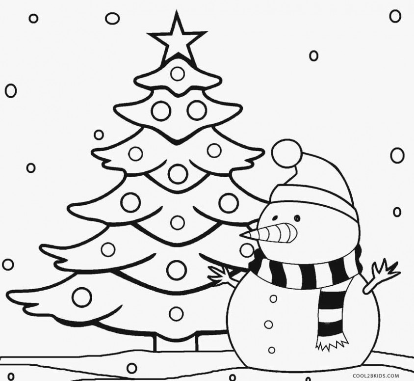 Printable Christmas Tree Coloring Pages For Kids | Cool13bKids – Coloring Pages Of Christmas Tree