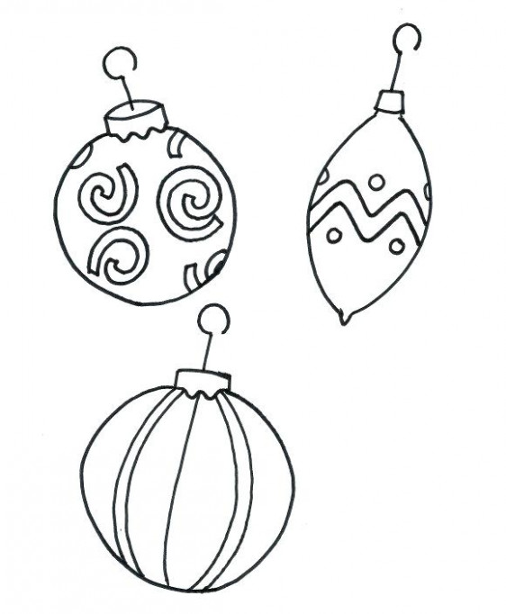 Printable Coloring Pages Of Christmas Ornaments Printable Coloring ...