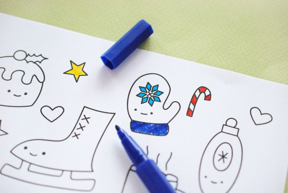 printable // kawaii christmas coloring pages | Coloring sheets ...