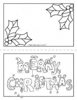 Printable merry #christmas #card coloring page for kids.free ...