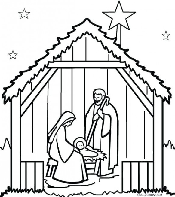Printable Nativity Coloring Pages Free Nativity Coloring Pages For ..