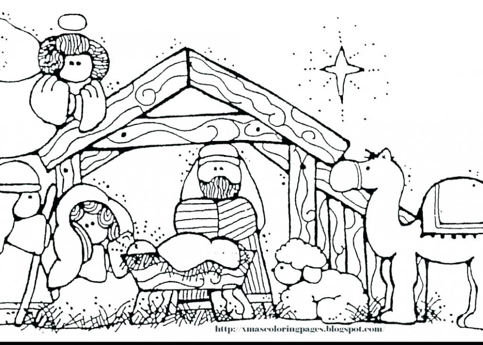 Printable Nativity Coloring Pages Free Printable Nativity Coloring ..